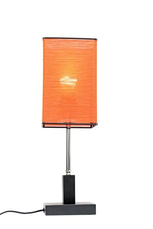 orange home lamp isolated over white background photo