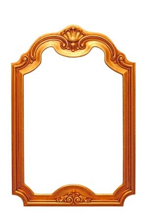 beautiful old baroque frame isolated on white background Stock Photo - 18866484