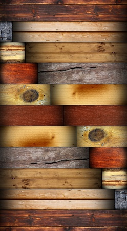 many wooden texture in single design with wood tiles  photo