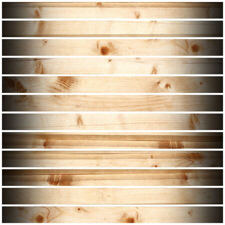 old vintage wooden planks isolated over white background  photo