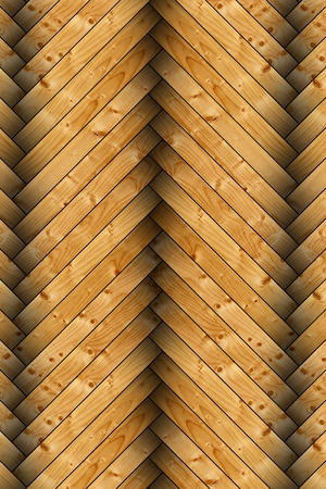 closeup of spruce floor tiles forming parquet floor photo