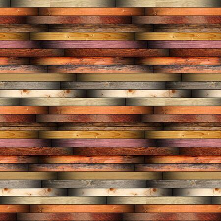 別の木の板から作られたインストール板床材料のコレクション