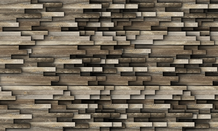 abstract floor or wall texture made from old wood planks photo