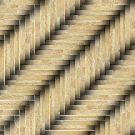 installed: textured of installed parquet wooden planks  flooring Stock Photo