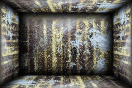 abstract grungy interior backdrop with weathered walls photo
