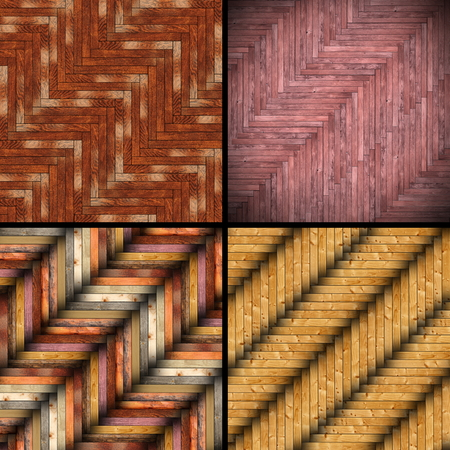 collection of different wooden tiles, colorful patterns for your design