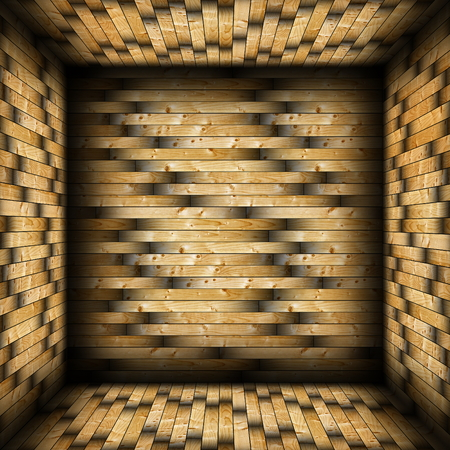 colorful tiled  wood finishing, interior backdrop for design photo