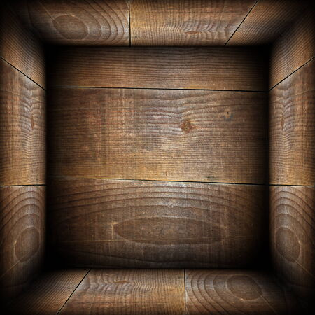 ancient wood interior backdrop like a wooden box photo