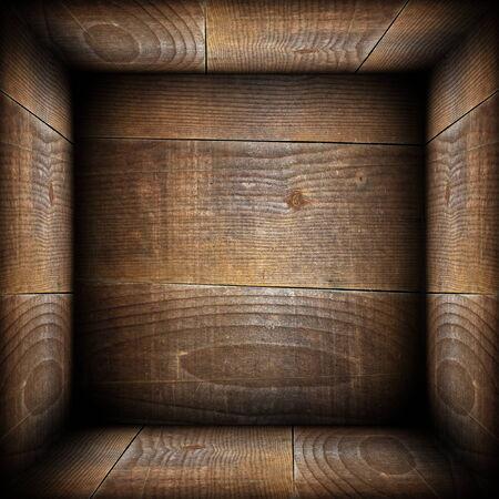 ancient wood interior backdrop like a wooden box Stock Photo - 25739877