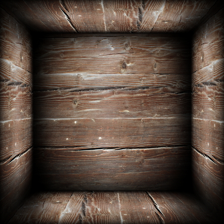 abstact view of wooden box interior, illustration made from wooden texture  illustration
