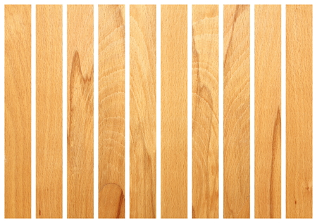 vertical wooden boards  isolated on white for floor design photo
