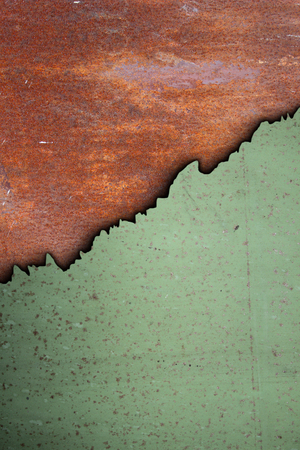 combined rusty textures of old cracked metal surfaces photo