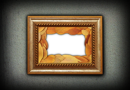 Beautiful Wooden Painting Frame With Leaves Decoration Inside