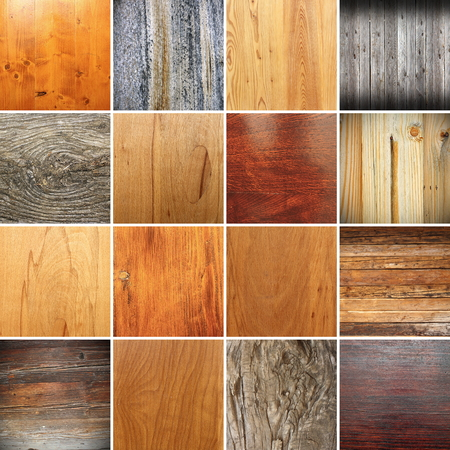 large collection of wooden textures to pick up in  your design Stock Photo
