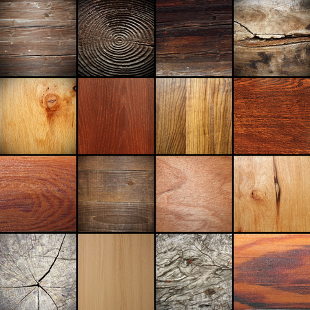large collection of real beautiful wooden  textures photo
