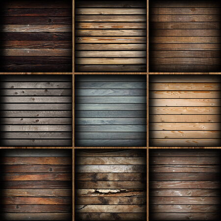 colorful wooden planks collection ready for interior design photo
