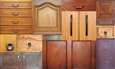 collection of old drawers in the same image for your design photo