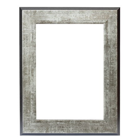metallic picture frame isolated over white background photo
