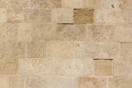 오래 된 돌은 교회의 exter 벽에 텍스처 타일