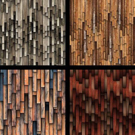 collection of abstract wooden planks texture for your design photo