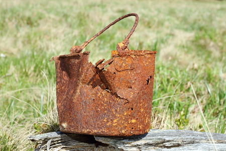 trenches: rusted military mess tin from first world war found on the trenches