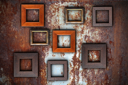 darkroom: picture frames on abstract surface ready for your design
