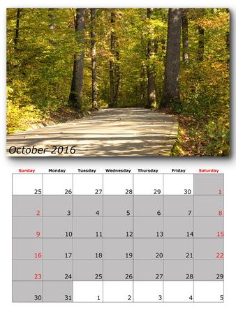 calendario octubre: p�gina CALENDARIO Octubre de imagen con la naturaleza
