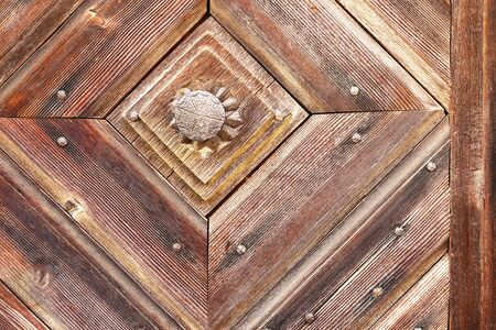 beautiful wooden pattern on old door, texture ready for your design