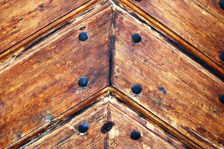 detail of wooden door, spruce planks wood texture