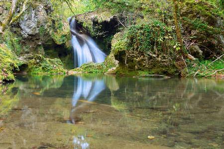 Susara waterfall in autumn season, Beusnita National Park, Romania