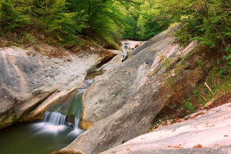 la Gavane rock formation in Apuseni, beautiful natural waterfall
