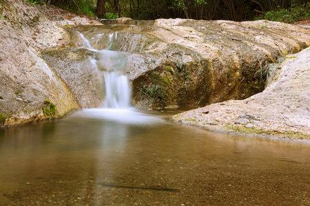 detail of la Gavane waterfall in Apuseni Natural Park, Romania