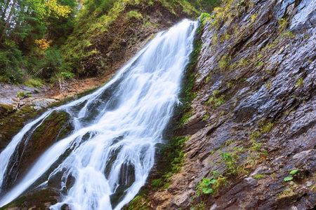 closeup of Rachitele waterfall, Apuseni mountains, Romania