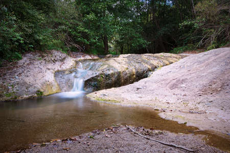 detail of la gavane waterfalls in Apuseni mountains