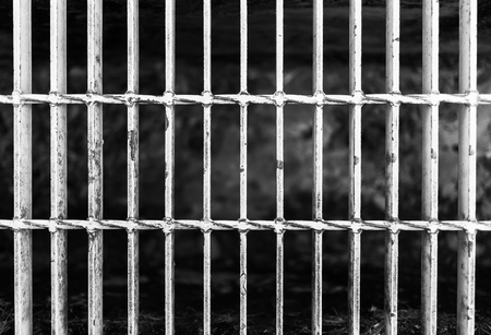Close up of grunge grate on the floor Stock Photo