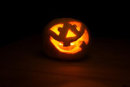 Halloween pumpkin with fire light Fred Jack