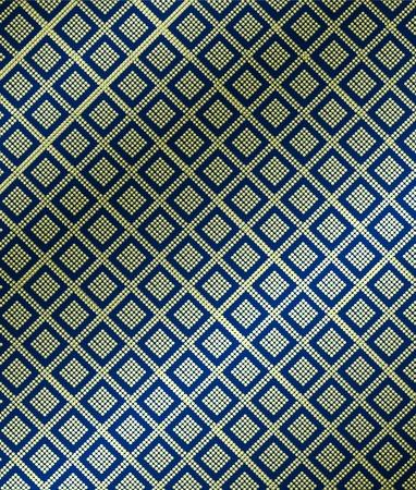 thai silk: Thai pattern on silk.