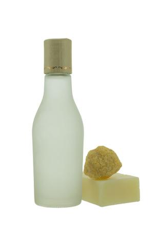 sud: spa bottle isolated on white background