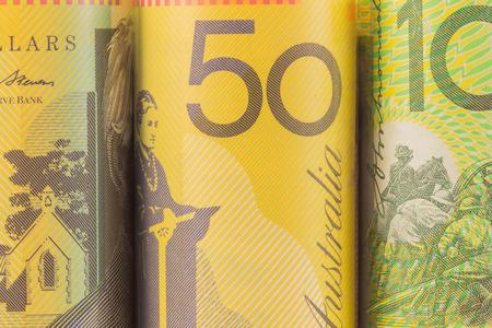 banco dinero: una foto de moneda australiana Foto de archivo