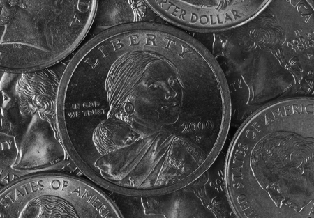 us coin: image of us coin,Black And White