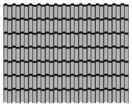 groupe de toit de tuiles grises, fond gris de texture de modèle.