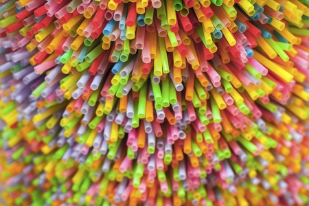 bendable: Colorfull of Straw Stock Photo