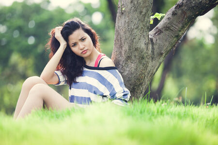 Beauty Girl Outdoors photo