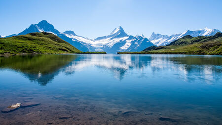 Reflection of the famous Matterhorn in lake, Zermatt, Switzerland