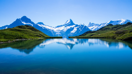 Reflection of the famous Matterhorn in lake, Zermatt, Switzerland