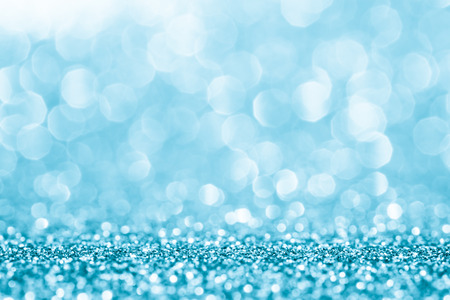 Blue glitter for abstract background