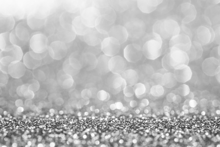 Silver glitter for abstract background 写真素材