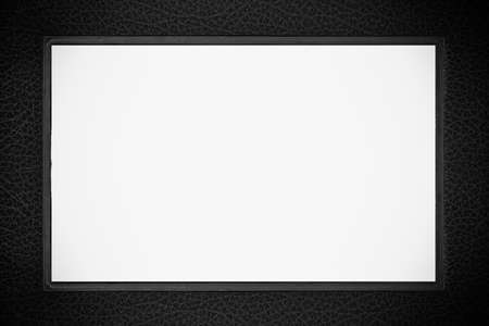 Black leather photo-frame photo