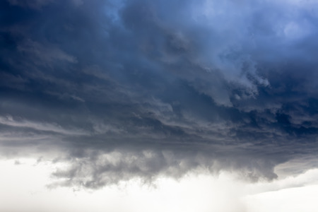 natural moody: Storm cloud, rain is coming Stock Photo