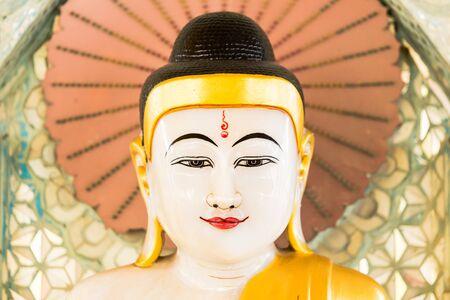 buddha image: Buddha image in Bagan, Myanmar. Stock Photo